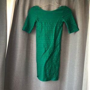 Bebe bodycon green dress sz SP